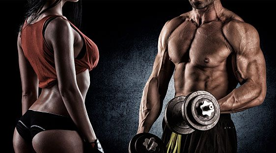 Personal Trainers - A picture of a man and woman lifting weights.