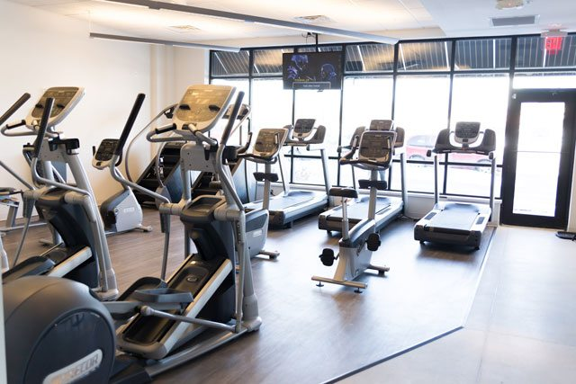 A Photo of The Accelerated Fitness Front Cardio Area.