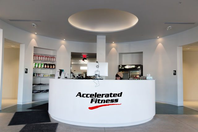A Photo of The Accelerated Fitness Reception Area in Medina Ohio.