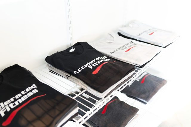 Photo of Accelerated Fitness T-Shirts for sale.