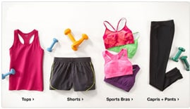 Workout Gear - A photo of workout clothing for sale by Accelerated Fitness.